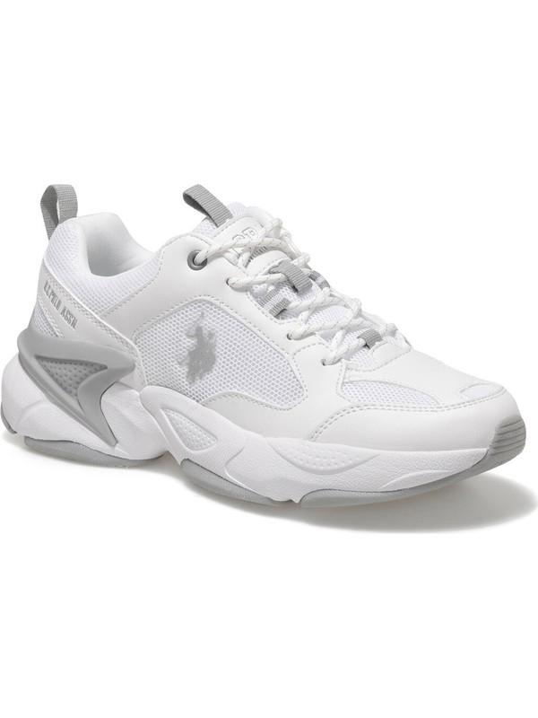 U.S. Polo Assn. Maybe Wmn Beyaz Kadın Sneaker Ayakkabı