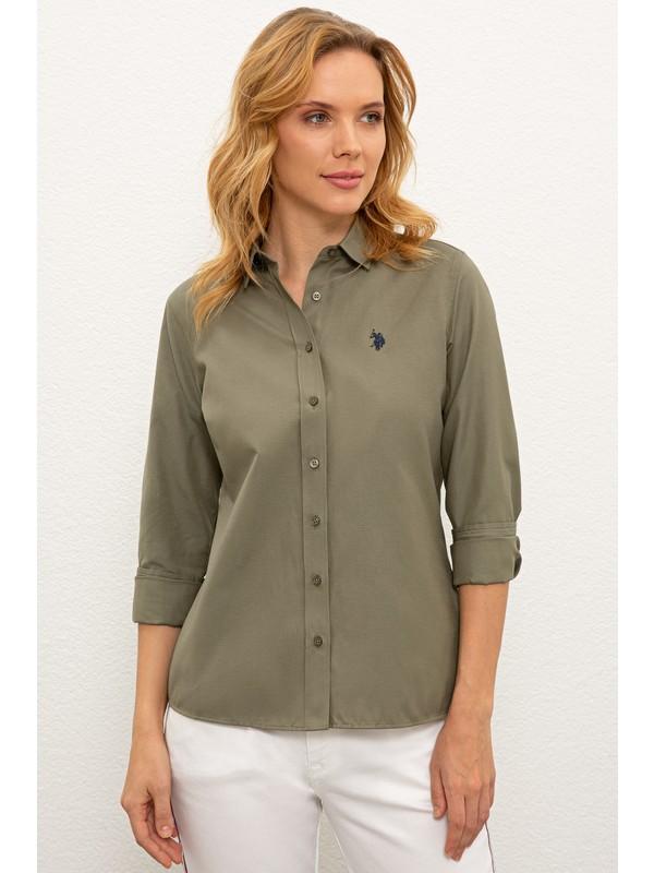 U.S. Polo Assn. Yeşil Gömlek Uzunkol Basic 50237226-VR027