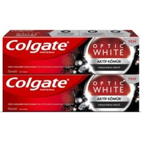 Colgate Optik Aktif Kömür 2 li 50 ml