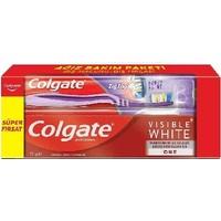 Colgate Vısıble Colgate Vısıble White Diş Macunu 75 ml ve Diş Fırçası Setiwhite Diş Macunu 75 ml +Colgate Zigzag Diş Fırçası