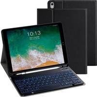 Turotto Apple iPad Air 3 A2152 A2153 A2154 A2123 Seri Bluetooth Özellikli Klavyeli Kılıf Siyah
