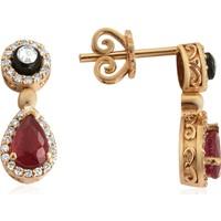 Clavis Jewelry Elmas, Pırlanta ve Damla Yakut Taşlı Küpe