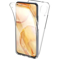 Mobilite Samsung Galaxy A51 360 Derece Şeffaf Silikon Kılıf Komple Koruma Şeffaf