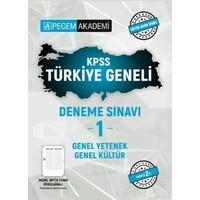 Pegem Akademi Yayıncılık 2021 KPSS Genel Kültür Genel Yetenek Türkiye Geneli Deneme Sınavı 1