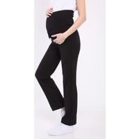 Luvmabelly MYRA8500 Beli Ayarlanabilir Hamile Günlük Ev Pantolonu -Siyah