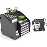 Design Otto Fx XL Modest A4 Evrak Rafı Masaüstü Organizer Siyah