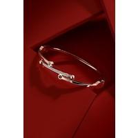 Frnch Kadın Çelik Figürlü Parıltılı Taşlı Bileklik FRJ10950-1050-C
