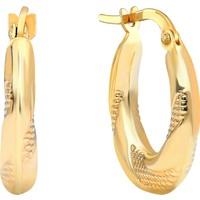 Gelin Pırlanta 14 Ayar Altın Halka Küpe - 1.5 cm