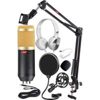Lastvoice BM800K Mikrofon Seti (Stand Filtre 7.1 Ses Kartı Kulaklık)