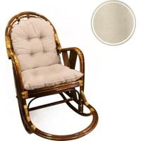 2'li Bambu ve Bahçe Sandalyeleri Için Sırt ve Oturma Minderi Takımı