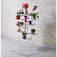 Full Reyon 10'lu Çiçeklik Çiçek Bahçesi Saksı Standı Dekoratif Saksılık
