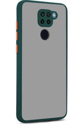Zore Xiaomi Redmi Note 9 Kılıf Hux Kapak (Parmak Izi Yapmaz) Koyu Yeşil