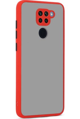 Zore Xiaomi Redmi Note 9 Kılıf Hux Kapak (Parmak Izi Yapmaz) Kırmızı