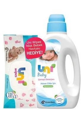 Uni Baby Çamaşır Deterjanı 1500 ml +Uni Wipes Islak Havlu
