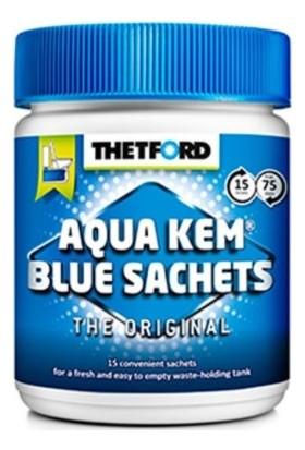 Thetford Kirli Su Tankı Kimyasalı Kutuda (Mavi) 15 Paket