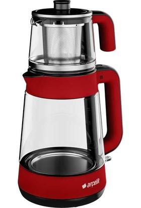 Arçelik CM 6964 K Resital 1900 W Cam Demlikli Çay Makinesi - Kırmızı