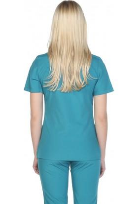 TıpMod Koyu Yeşil Terikoton Doktor ve Hemşire Forması