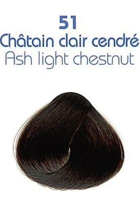 Clinerience Doğal Saç Boyası 51 - Kül Kestane Sarı Rengi