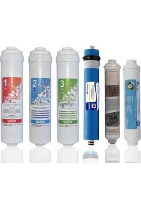 CUSTOM Kapalı Kasa Su Arıtma Cihazları Için Inlıne 5'li Filtre Takım