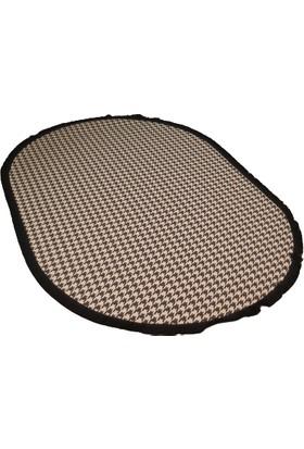 Deccor Evım 140X200 Oval Özel Kupon Ihracat Decoratif Pamuklu Jakarlı Dokuma Halı Kilim