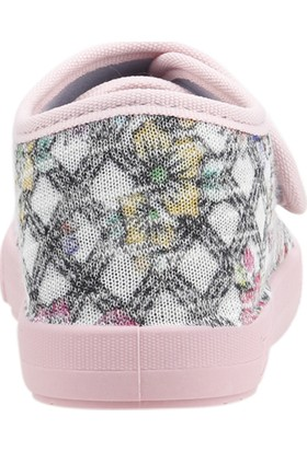 Sanbe 106P125 Okul Kreş Kız Çocuk Keten Panduf Ayakkabı