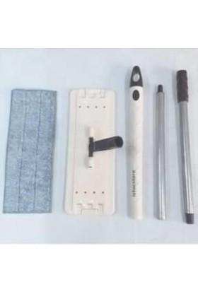 Zambak Plastik Tablet Mop Yedek Set 105CM Metal Sopa,cırtlı Plastik Palet+Paspas