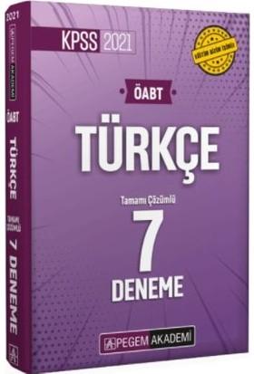 Pegem Akademi 2021 KPSS ÖABT Türkçe 7 Deneme