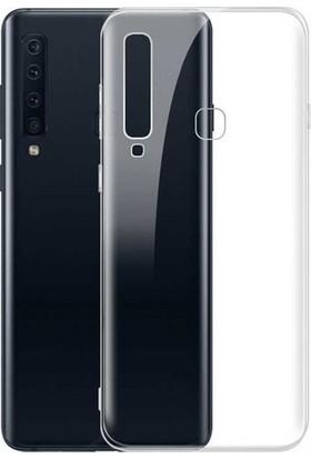 Smartberry Samsung Galaxy A9 2018 Kılıf Lüks Korumalı Silikon + Tam Kapatan Ekran Koruyucu + Kamera Koruyucu-Şeffaf