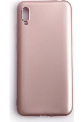 Soffany Huawei Y6 2019 Rose (Gül Kurusu) Esnek Polikarbon Rubnice Kılıf Rose