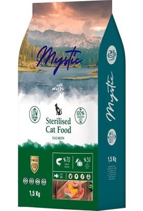 Mystic Düşük Tahıllı 2 Paket Somonlu Kısır Yetişkin Kedi Maması 1,5 kg