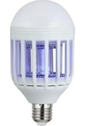 Hanover Sinek Öldürücü E27 Duy 240V 50-60HZ Soğuk Beyaz Renk 2W LED Ampul+ LED Sinek Öldürücü Hanover 8+2W
