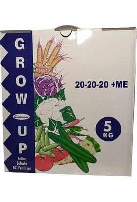 Ekin Tarım Gübre Grow Up 20.20.20+Me Npk Içerikli Toz Bitki Besini (5kg)