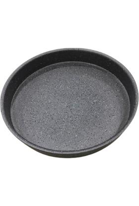 Oms Granit 34 x 5 cm Fırın Tepsi Gri