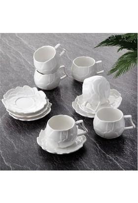 Tohana Porselen Gül 6lı Kahve Fincanı