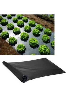 Hoşgör Plastik Malç Naylonu Sebze Naylonu 120CM x 1500METRE (Siyah 1 Top)