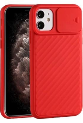 Ally Apple İphone 11 6.1 İnch Kılıf Kamera Kapatan Koruyucu Sürgülü Kılıf Al32166 Kırmızı