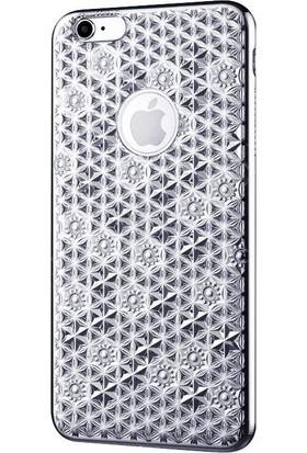 Rock Apple İphone 6 Plus Reform Desing Blossom Series Cep Telefonu Kılıfı Gümüş