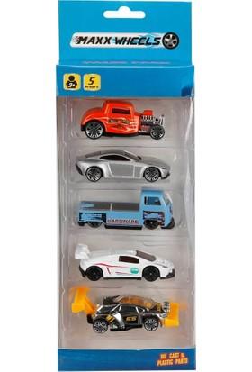 Maxx Wheels 5'li Araç Seti - Turuncu Araba