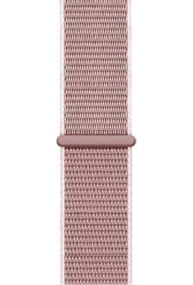 Pars Online Apple Watch Spor Loop Dokuma Kordon Örgü 1 2 3 4 5 6 Se Seri 38 mm 40 mm Gül Pembe