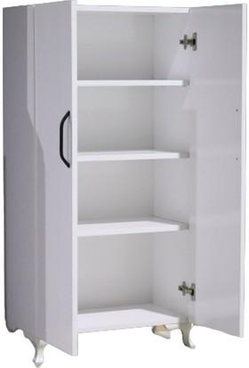 Özce Çok Amaçlı Dolap 4 Raflı Mutfak Banyo Balkon Beyaz