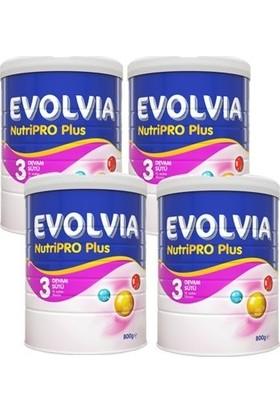 Evolvia Nutripro Plus 3 Bebek Devam Sütü 800gr 4'lü Paket