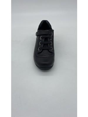 Mammamıa 046 Siyah Deri Günlük Ayakkabı