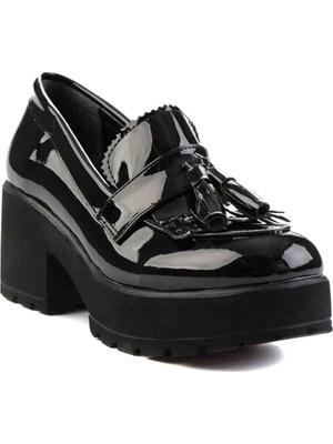 Bambi̇ Siyah Kadın Loafer