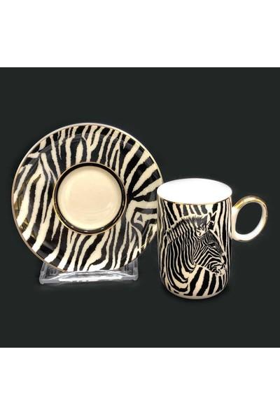 Wınterbach Zebra 6lı Türk Kahve Fincan Seti 5377-07CP