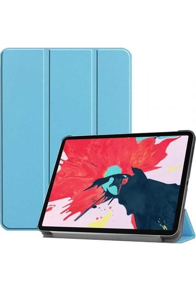 Apple iPad Pro 12.9 Zore Smart Cover Standlı 1-1 Kılıf Mavi