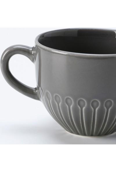 Ikea Strımmıg Kupa Gri 360 ml