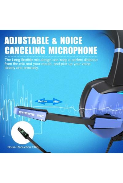 Bengoo Gm-7 Rgb Kablolu Kulak Üstü Oyuncu Kulaklığı (Yurt Dışından)