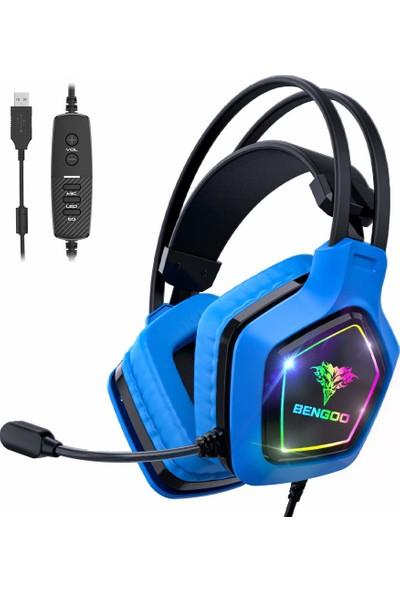 Bengoo 7.1 USB Pro Rgb Işıklı Oyuncu Kulaklığı (Yurt Dışından)