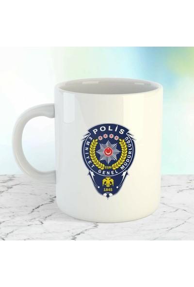 Kupacı Abla Meslek Polis Baskılı Kupa