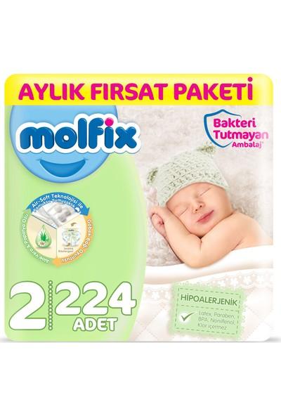 Molfix Bebek Bezi 2 Beden Mini Aylık Fırsat Paketi 224 Adet